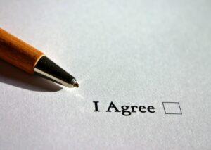婚前契約書の例(ひな形)